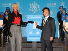 Vern Yip and Keri Hilson at the 2010 UNICEF Snowflake Lighting