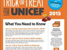 How To Trick-or-Treat for UNICEF Packet