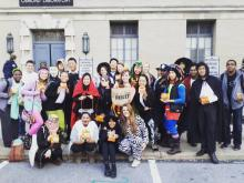 This is a photo of last year's Campus Challenge winner, the Penn State UNICEF Club, during their Trick-or-Treat for UNICEF fundraising events this year.