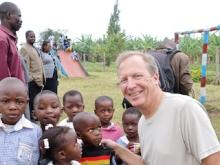 Midwest Regional Board member Bill Dietz on a U.S. Fund for UNICEF field visit to Uganda.