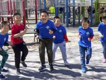Students from New York City's P.S. 42 get active with the UNICEF Kid Power program to save the lives of children with severe acute malnutrition.