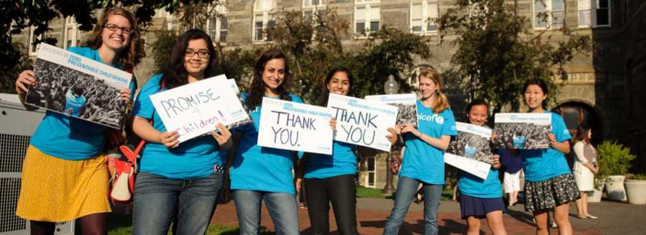 Unionville High School students for UNICEF