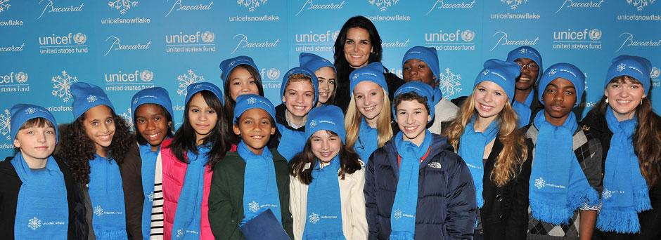 Angie at UNICEF Snowflake Lighting