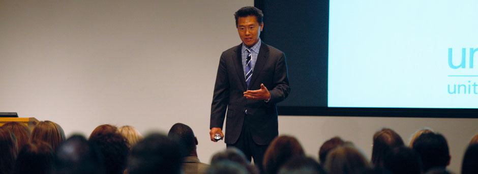 Photo CUNICEF Ambassador Vern Yip presents Design for Good at the Hallmark Color Symposium on July 24, 2012
