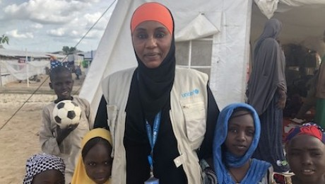Aisha Kolo Lawan is a UNICEF Child Protection Specialist in Maiduguri, Borno State, Nigeria.