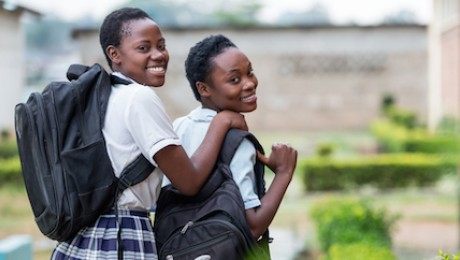 UNICEF-supported school girls in Zambia