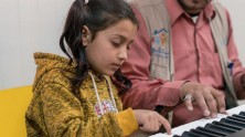 unicef, syrian refugees, child refugees, jordan, music therapy, music education