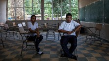 Josseline, 17 (left), Darwin, 16, and their friend Henry were targeted by bullies at school in Villanueva, Honduras. Henry committed suicide after the bulllying began.