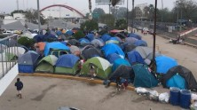 UNICEF is providing urgently needed support for migrant children and families stranded in tent encampments in Matamoros, Mexico, just over the red bridge from Brownsville, TX, as they wait for their asylum cases to proceed through the U.S. court system.