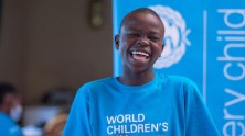 At an event for World Children's Day 2020, 13-year-old Nanyonjo Desire Catherine, a student at Kiwolera Primary School in Kamuli District, Eastern Uganda, spoke about how UNICEF has helped her continue her education during the COVID-19 pandemic.