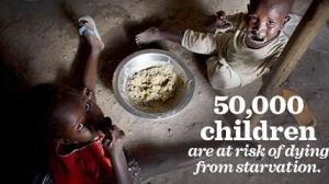 50,000 children are at risk of dying
