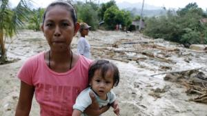 Typhoon Koppu has displaced more than 100,000 people in the Philippines.
