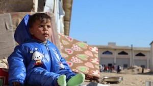 One year-old baby Rukaia fled eastern Aleppo with her parents and four siblings last week. The family is now staying at a former warehouse turned into a shelter in Jibreen, on the outskirts of Aleppo.
