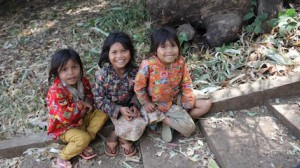 Children in Cambodia, where UNICEF and Kiwanis International are fighting tetanus.