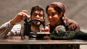 Adam Kantor on the set of Fiddler on the Roof