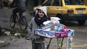 9-year-old Ayman sells candies in rural Damascus to help his family get by and put food on the table. With the Syrian crisis entering year six, children like him barely remember their childhoods