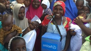 Polio vaccinator Aisha Bulama is one of thousands of UNICEF-supported team members working in Borno State, Nigeria.