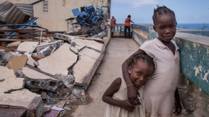 After their homes were damaged or destroyed by Hurricane Matthew, some 300 people sought shelter at a church in Jérémie.