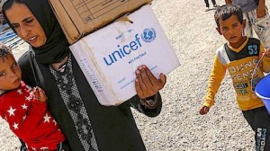 UNICEF delivers emergency aid to internal refugees in Iraq during 2016.