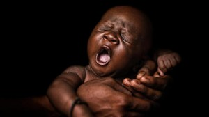 24-day-old Youssouf was born at the UNICEF-supported Community Health Center in Koumatou, Mali in February 2018.