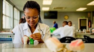 South African Nokulunga Dladla decided to go to dental school after joining the UNICEF-supported Techno Girls program, which encourages girls to pursue careers in STEM fields. © UNICEF/UNI195242/Prusent
