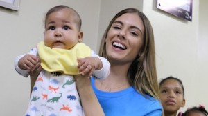 UNICEF NextGen influencer and Wilhelmina model Carmella Rose visits San Lorenzo do Los Minas Maternal and Neonatal Hospital in Santo Domingo, Dominican Republic in February 2019.