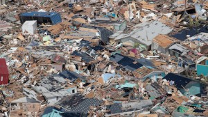 Homes were destroyed and neighborhoods flooded when Hurricane Dorian devastated the Bahamas in September 2019.