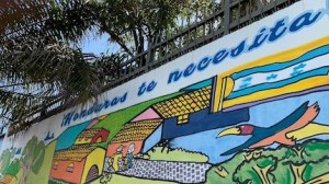 """Honduras needs you!"" says a mural outside the UNICEF-supported Belen Reception Center for Returned Migrants in western Honduras."