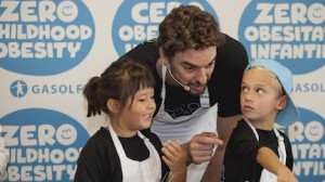 A UNICEF Spain Ambassador since 2003, athletic 7-foot NBA All-star Pau Gasol has been appointed a Global Champion for Nutrition and Zero Childhood Obesity by UNICEF.
