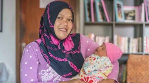 """I had contractions at 7 months and was very nervous, "" says Lina, a mother in Indonesia who nearly went into premature labor. But thanks to her UNICEF-supported midwife, she was prescribed medication that allowed her to continue her pregnancy to full ter"