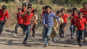 Young cricket players in India.