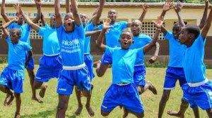 For World Children's Day, kids who live in an orphanage in the southeast of Côte d'Ivoire jumped for joy when they were given the chance to take over their dance class. © UNICEF/UN0257542/Diarassouba