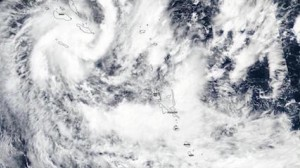 Tropical Cyclone Harold made landfall in the South Pacific island nation of Vanuatu on April 6, 2020.