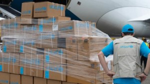 An Airbus plane carrying 9 tons of UNICEF medical supplies and personal protective equipment for frontline health workers arrived in Panama on March 7, 2020, to support UNICEF's continued response to the COVID-19 pandemic.