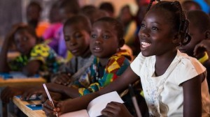 On December 3, 2019, Nabyla (name changed), 13, attends class in at a UNICEF-supported school in Kaya, Burkina Faso, where her family found refuge after armed groups invaded their village, kidnapping and killing people.