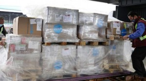On January 29, 2020, a shipment of protective gear arrives in Shanghai from UNICEF's Copenhagen warehouse, to support response to the novel coronavirus (COVID-19).