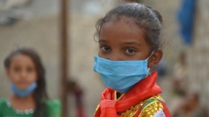 Seven-year-old Jabra is learning how to stay safe from the novel coronavirus in Sana'a, Yemen, with help from UNICEF.