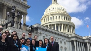 UNICEF USA advocates from Indiana meet with Congressman Pete Visclosky (D-IN) in 2019.