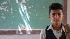 Forced out of their home by heavy fighting, 12-year-old Ahmed and his family took shelter in a partially damaged school in Yemen's Hajjah governorate.