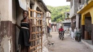 Mélienne Dessir, left, lost her 18-month-old daughter in the earthquake that struck southwestern Haiti on August 14, 2021.
