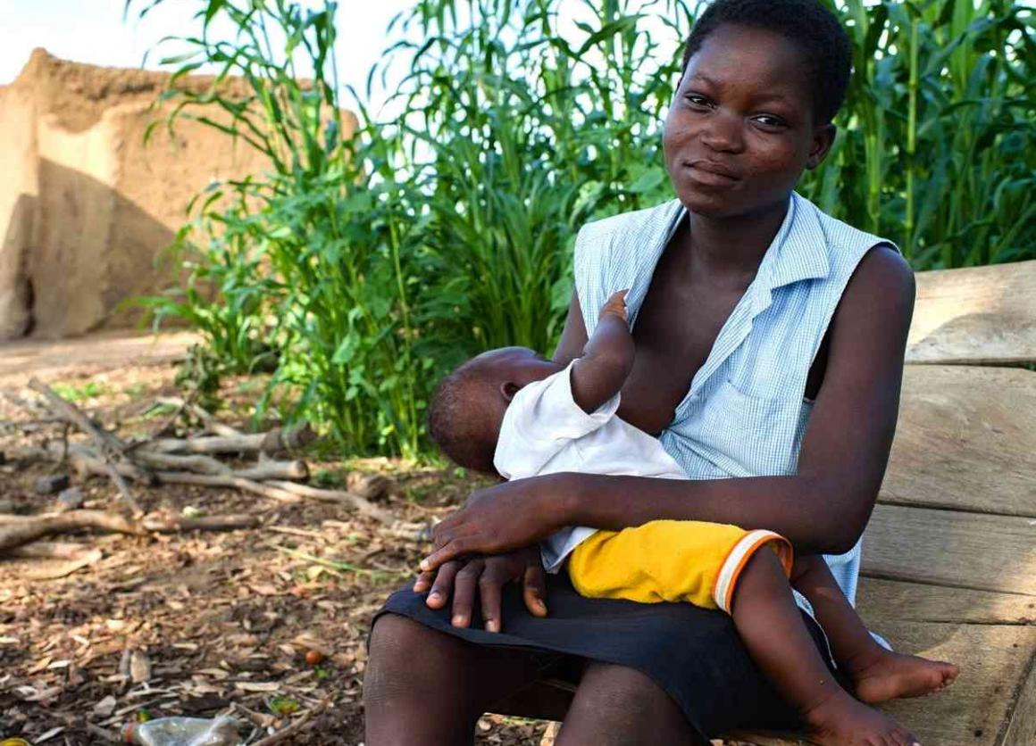 Child brides like Clara from Ghana are often married to relieve the economic burden on their families. A teenage herself, she now has a young son, who will likely keep her out of school, and never make it out of poverty himself.