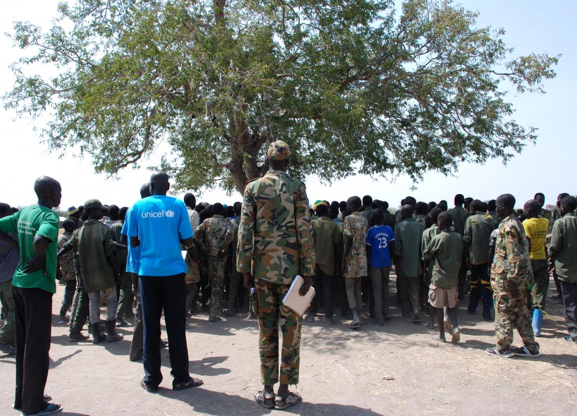 Demobilization ceremony in South Sudan (c) UNICEF South Sudan