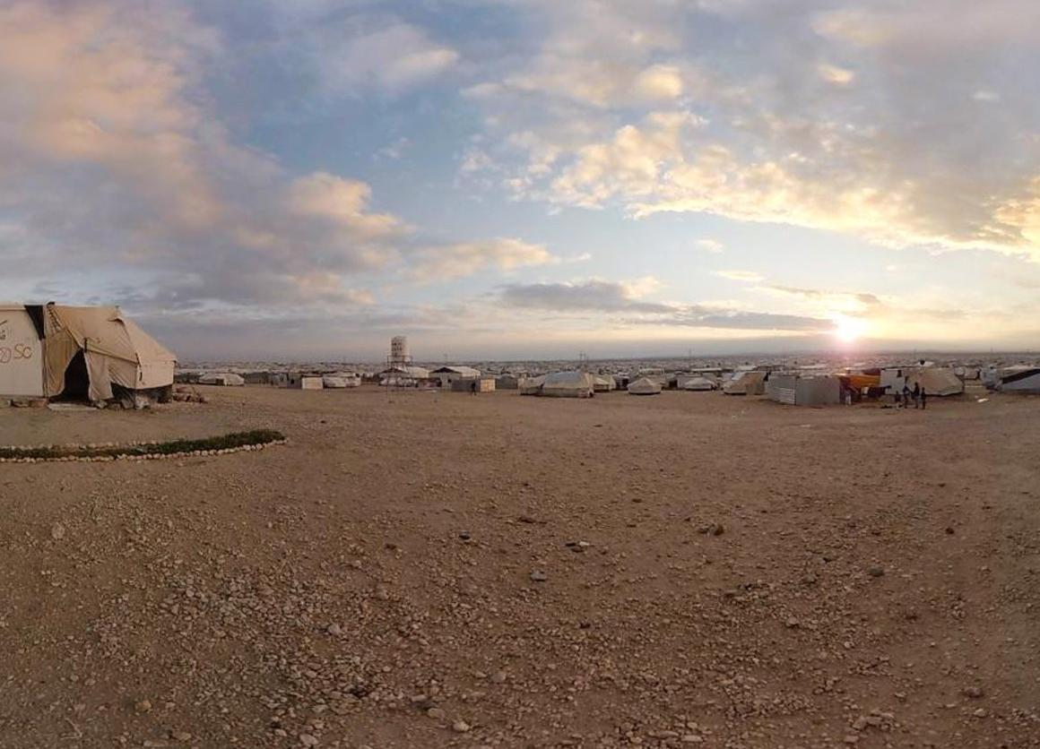 The Za'atari refugee camp, setting for the virtual reality experience Clouds Over Sidra