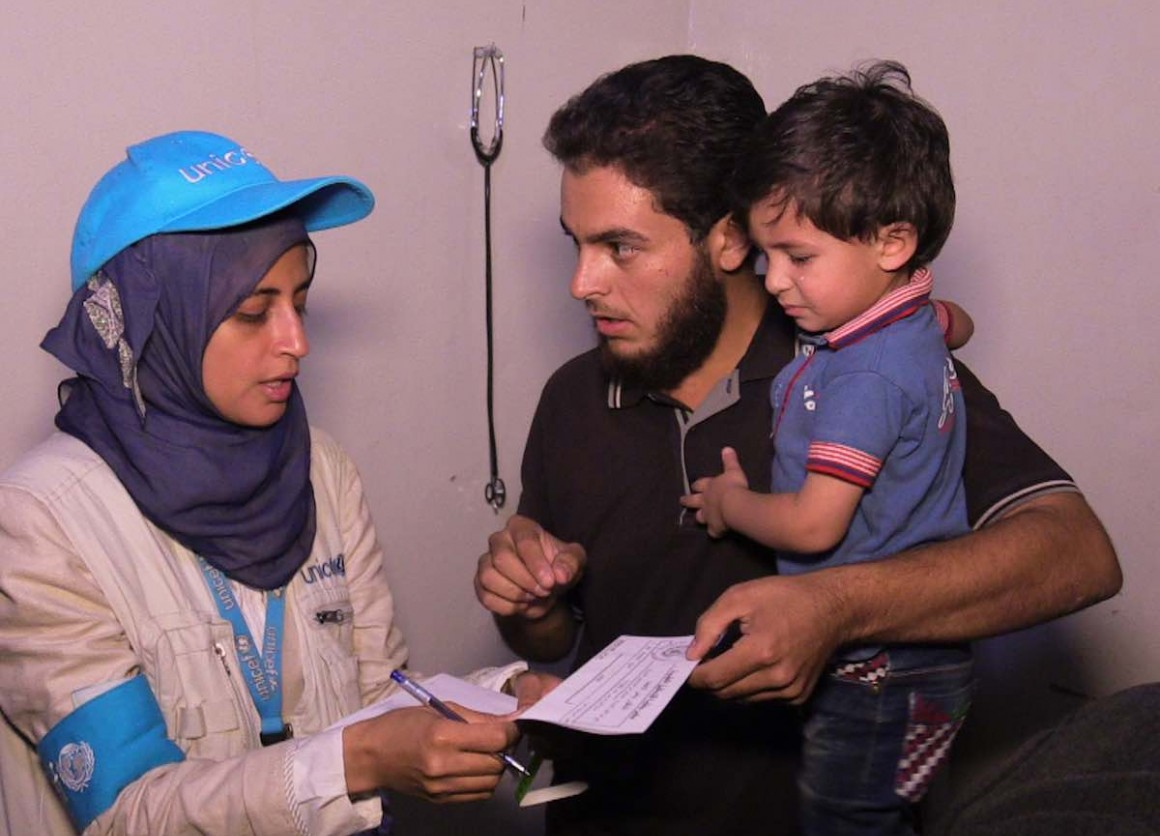 "UNICEF nutritionist Dr Rajia Sharhan says, ""We had not been able to enter Madaya since late April. I was in here in January, when children were starving, and when despite our frantic efforts we watched one young man die right before our eyes."""