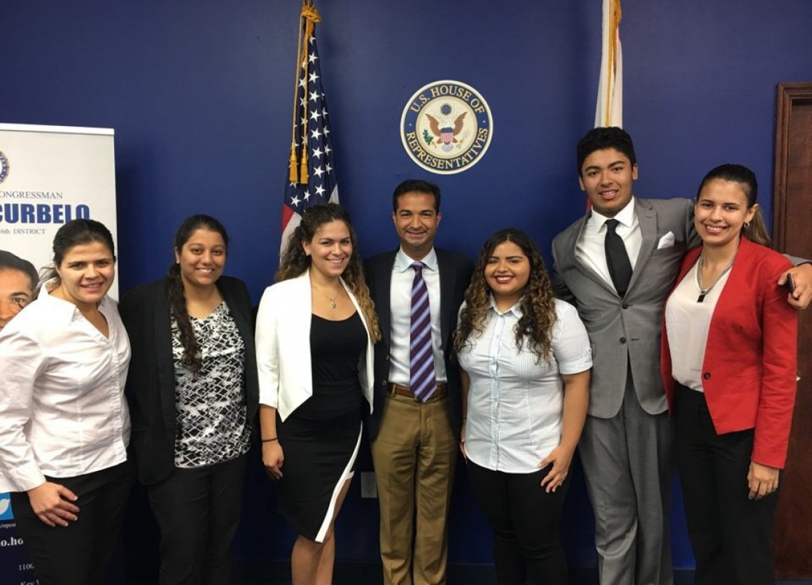 Miami Congressional Action Team members meet with U.S. Congressman Carlos Curbelo
