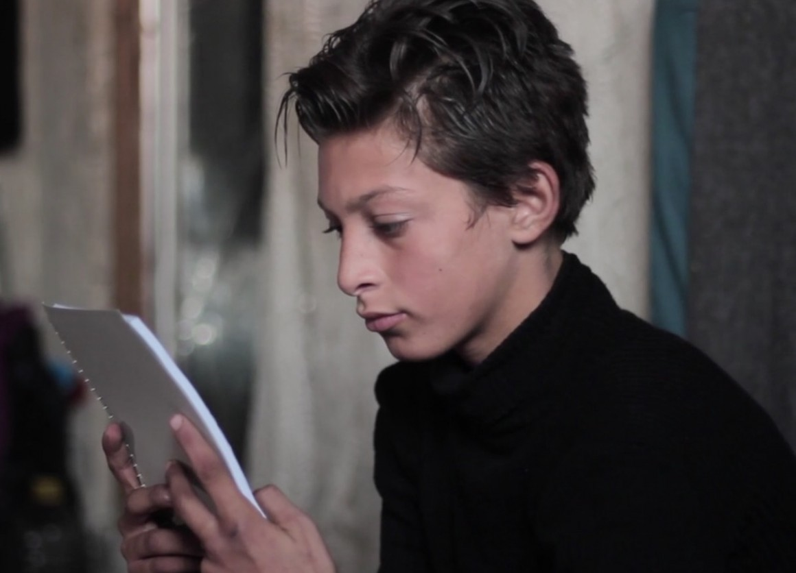 Moheb, 11, lives in Aleppo, Syria where half his friends have left or died in the war. Chores, school and work, leave little time for studying but with dreams of a law degree and helping his country regain peace, he presses on