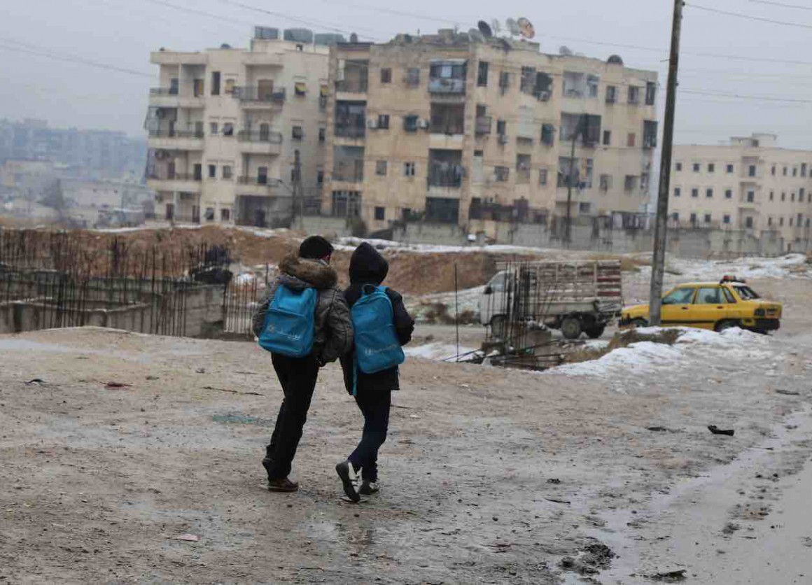 Very harsh weather conditions are amongst many difficulties that civilians have to endure to survive in the northern parts of Syria, like here in East Aleppo