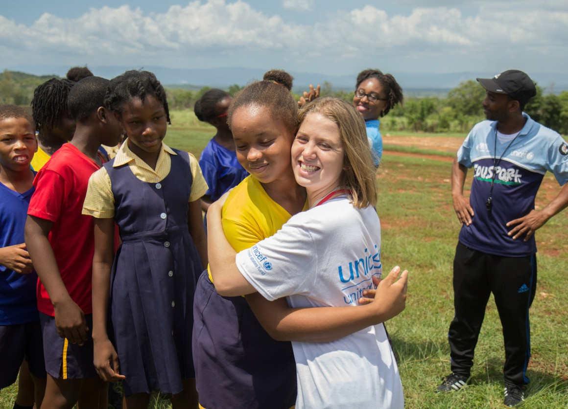 In September Lucy Meyer, official spokesperson for the Special Olympics — UNICEF USA, traveled with UNICEF Jamaica to tour the country's newest educational facilities for children with special needs.