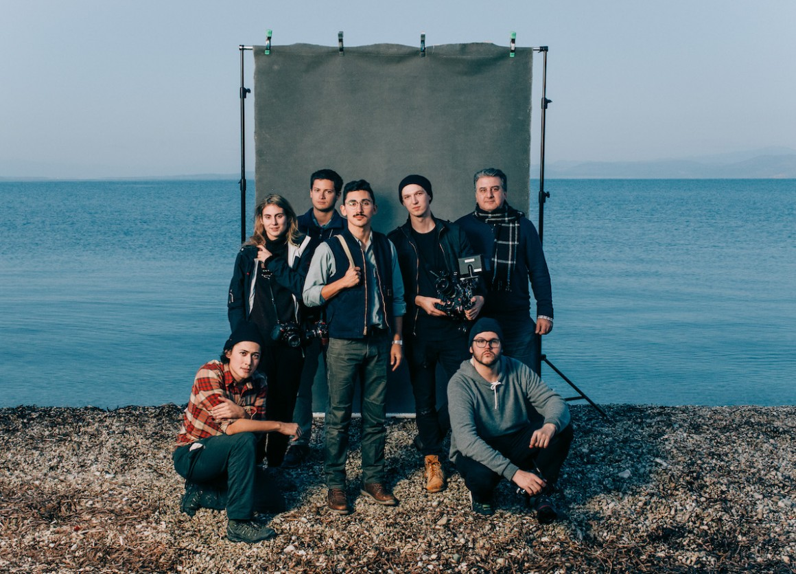 Magna Carta filmmakers on set of The Refuge, about the refugee crisis.