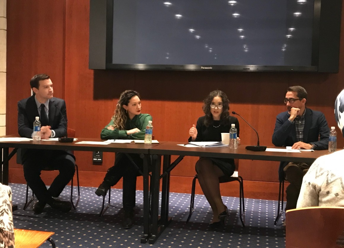 Sean Snyder (UNICEF), Kathryn Striffolino (Save the Children), Jana Mason (UNHCR), and Mark Chapple (World Vision) discuss No Lost Generation issues.